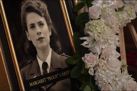 Peggy Carter funeral in Captain America Civil War
