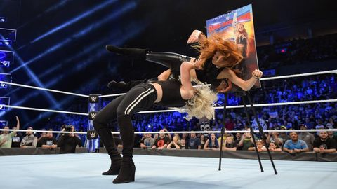 Charlotte Flair and Becky Lynch on WWE SmackDown Live