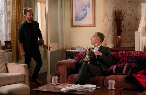 David Platt isn't pleased to see Nick Tilsley in Coronation Street