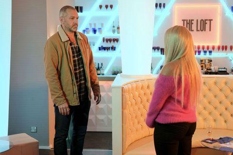 Glenn Donovan confronts Grace Black in Hollyoaks