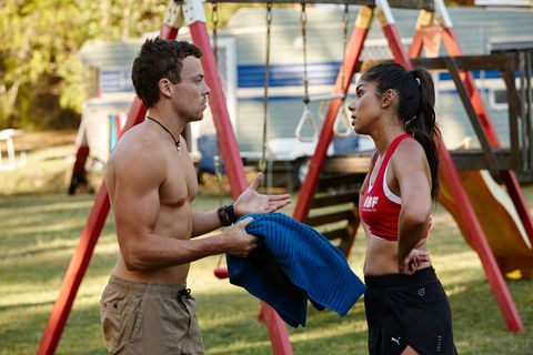 Dean Thompson rejects support from Willow Harris in Home and Away