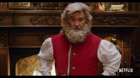 Christmas Chronicles Mrs Claus.Guardians Of The Galaxy S Kurt Russell Is Santa In New
