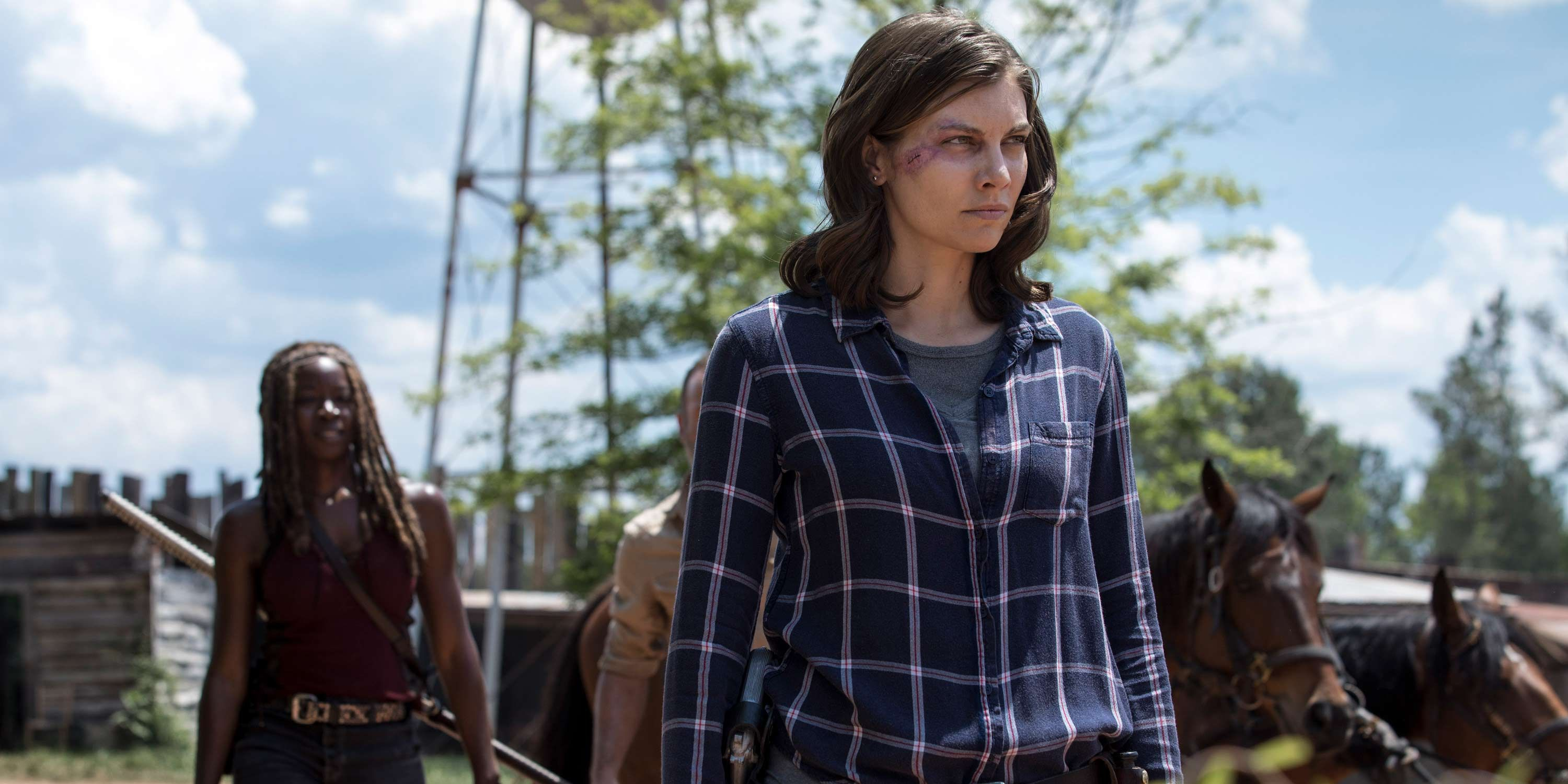 Lauren Cohan, Maggie Rhee, Danai Gurira, Michonne, The Walking Dead, Season 9, Episode 1