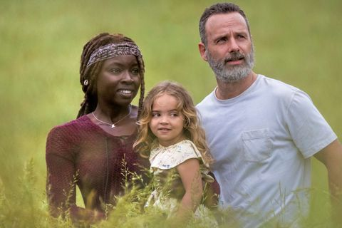 Andrew Lincoln, Rick Grimes, Danai Gurira, Michonne, The Walking Dead, Season 9, Episode 1