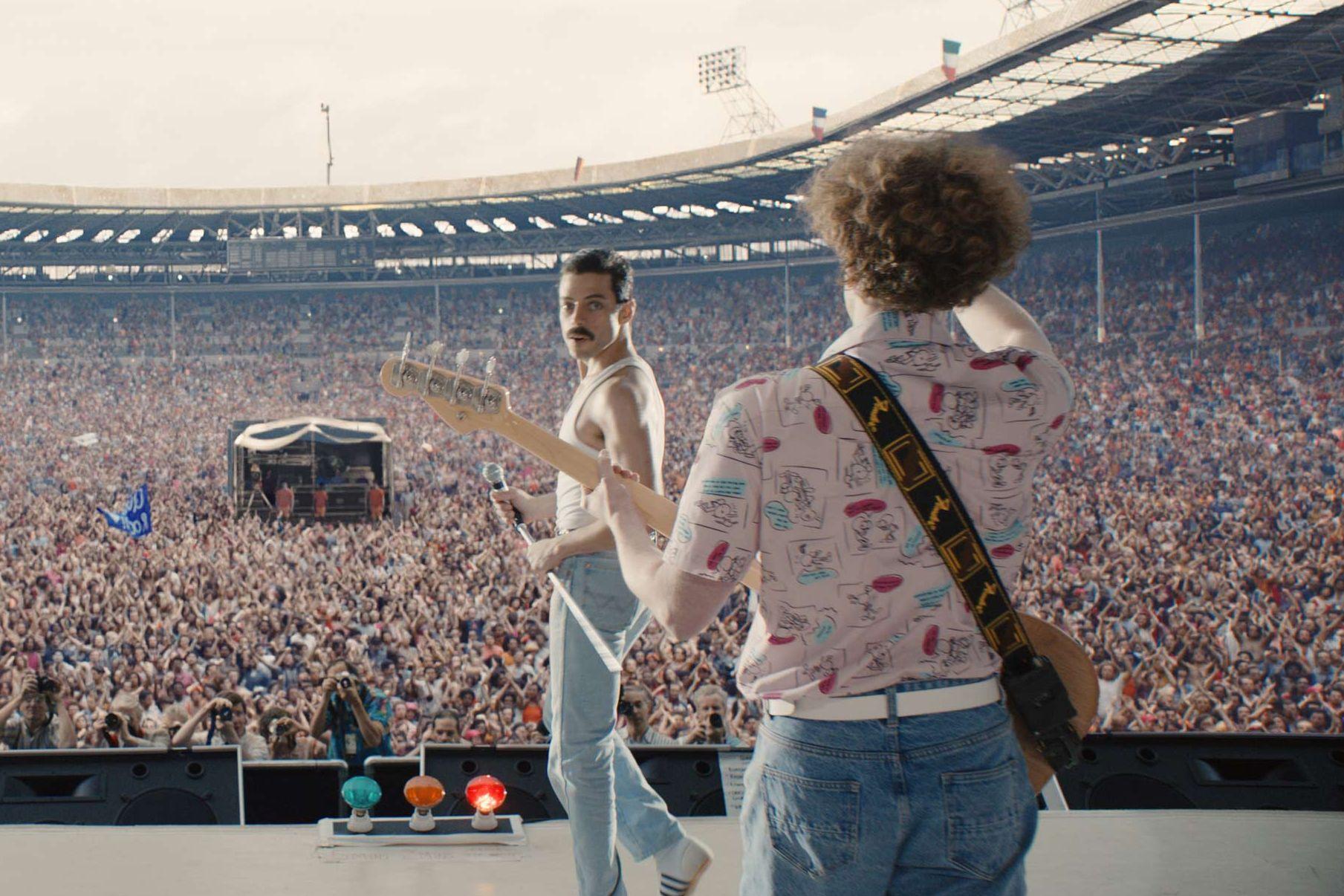 Gwilym Lee, Ben Hardy, Rami Malek, Joe Mazzello, Brian May, Roger Taylor, Freddie Mercury, John Deacon, Bohemian Rhapsody