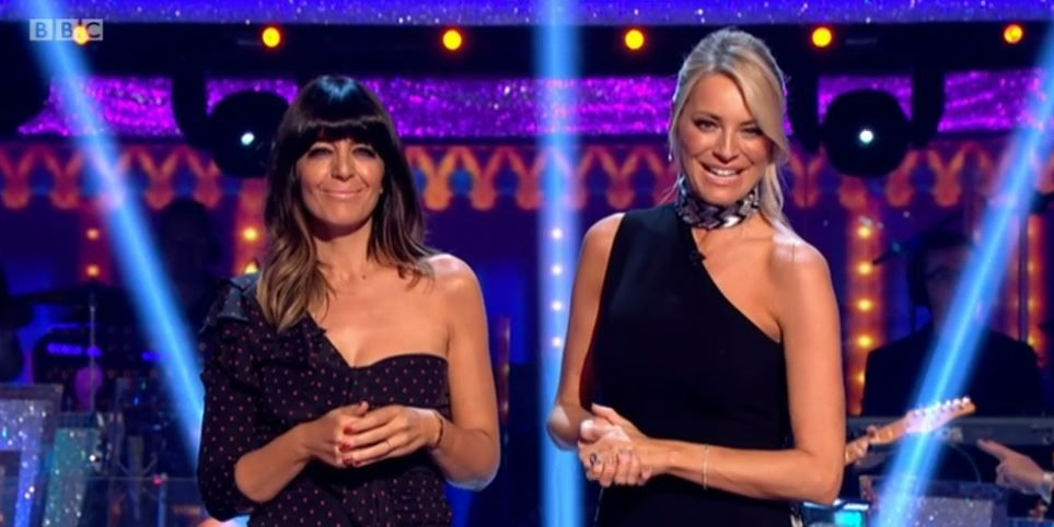 Tess Daly and Claudia Winkleman on Strictly Come Dancing