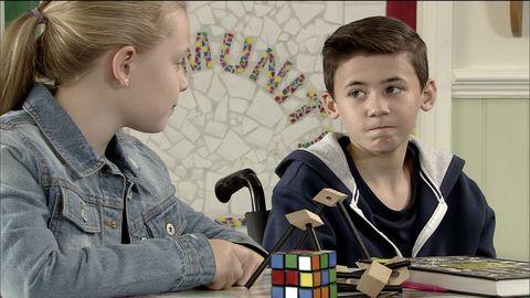 Jack Webster struggles at school in Coronation Street