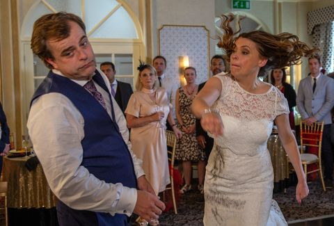 Image Itv Tracy Barlow And Steve Mcdonald S Wedding