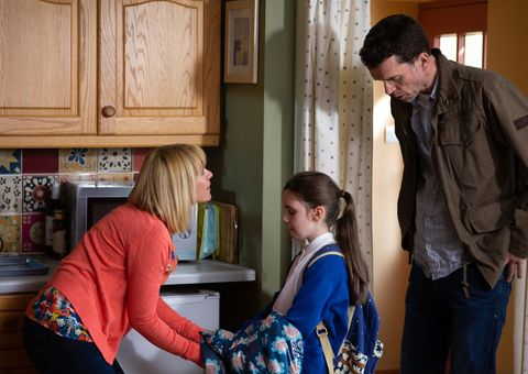 April Windsor tells Rhona Goskirk and Marlon Dingle why Leo is being bullied in Emmerdale