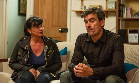 Moira Dingle is suspicious over Cain in Emmerdale