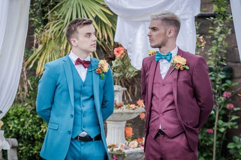 Ste Hay and Harry Thompson's wedding day in Hollyoaks