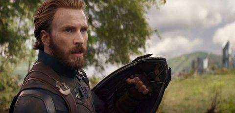 chris evans as captain america with beard in avengers infinity war wakanda battle