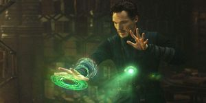 Benedict Cumberbatch, Doctor Strange using the Eye of Agamotto (Time Stone)