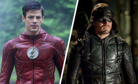 The Flash and Arrow split image