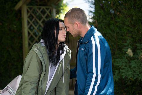 Hayley Slater tries to kiss Keanu Taylor in EastEnders