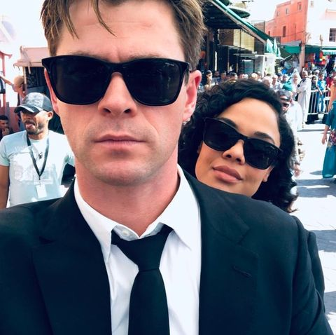 Men in Black: International star Tessa Thompson didn't want to say iconic line