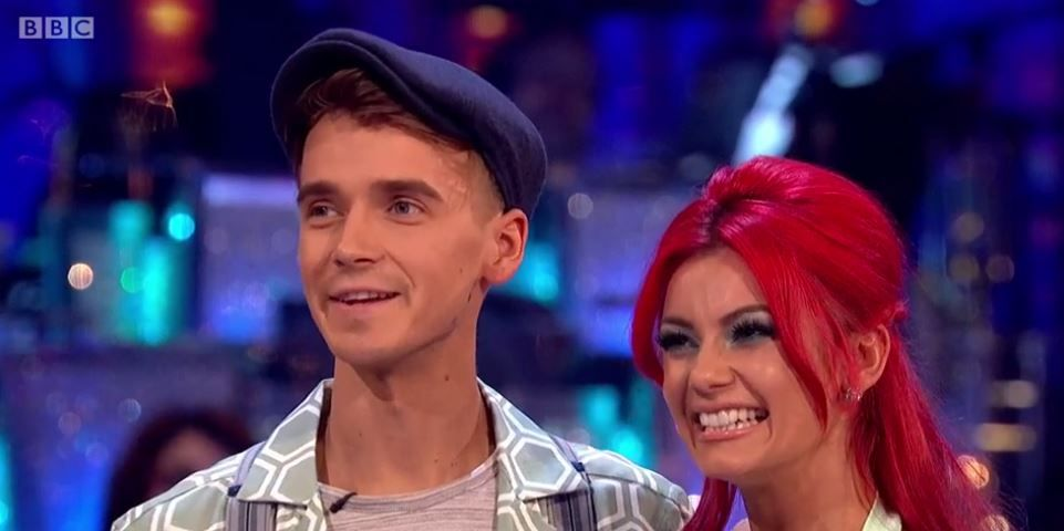 Joe Sugg and Dianne Buswell on Strictly Come Dancing