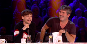 The X Factor 2018 – Louis Tomlinson and Simon Cowell on the live show