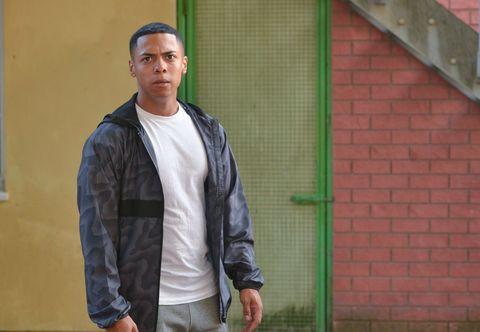 Keegan Baker sees Shakil's poster has been defaced in EastEnders