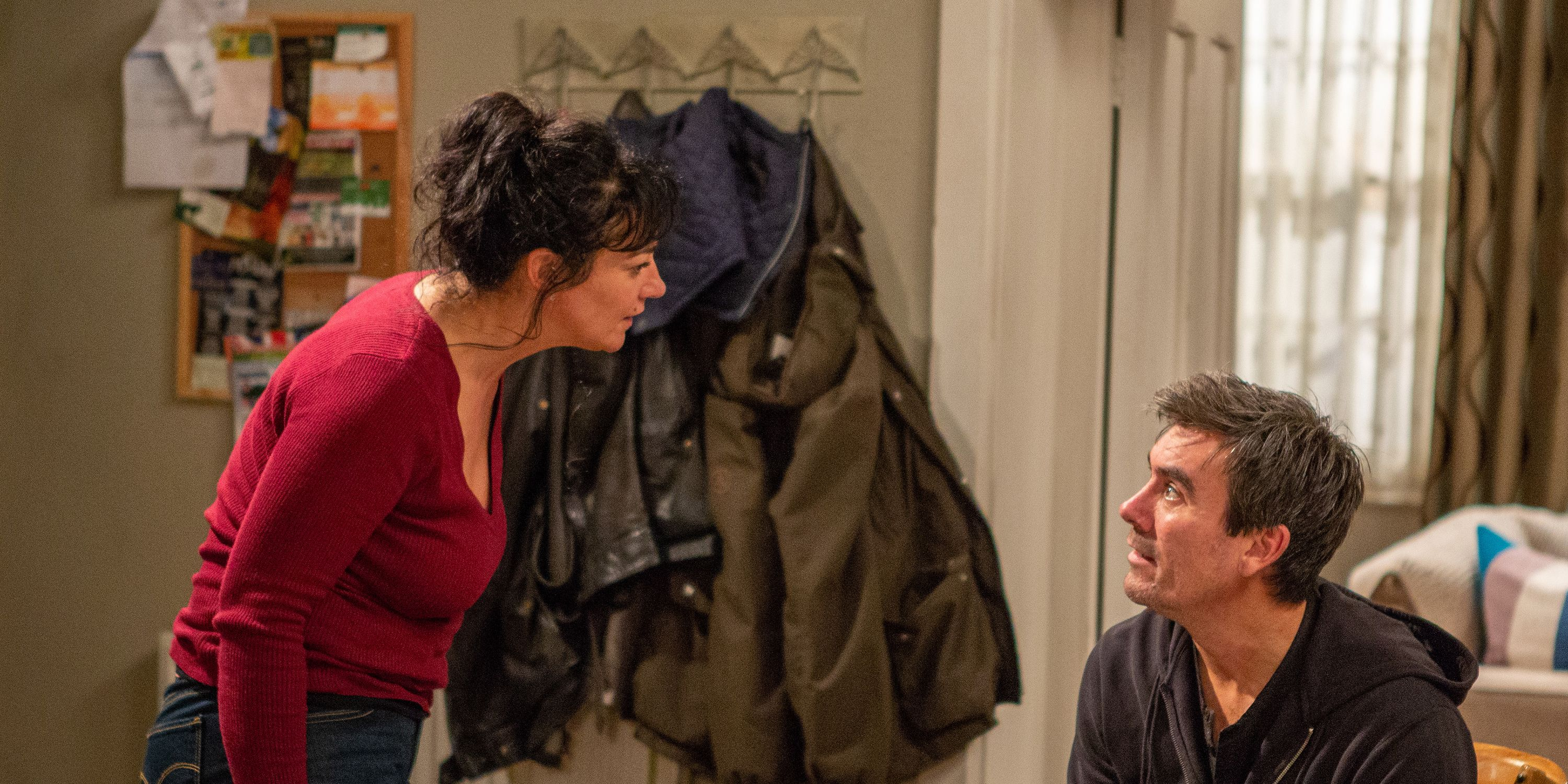 Moira Dingle pushes Cain into making a confession in Emmerdale