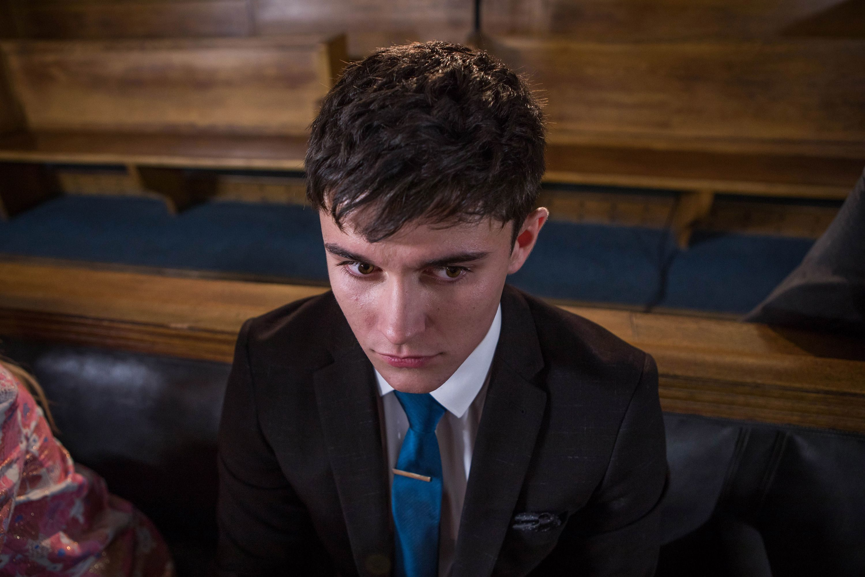 Buster Smith appears in court and Ollie Morgan watches in Hollyoaks
