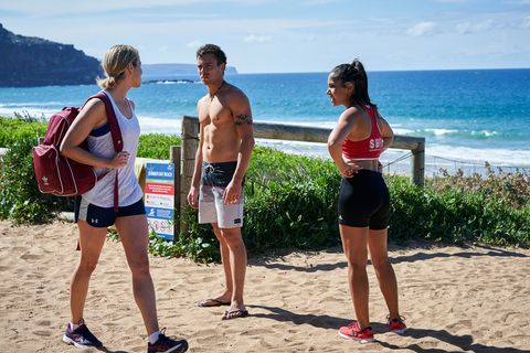 Chelsea Campbell, Dean Thompson and Willow Harris talk about the incident in Home and Away