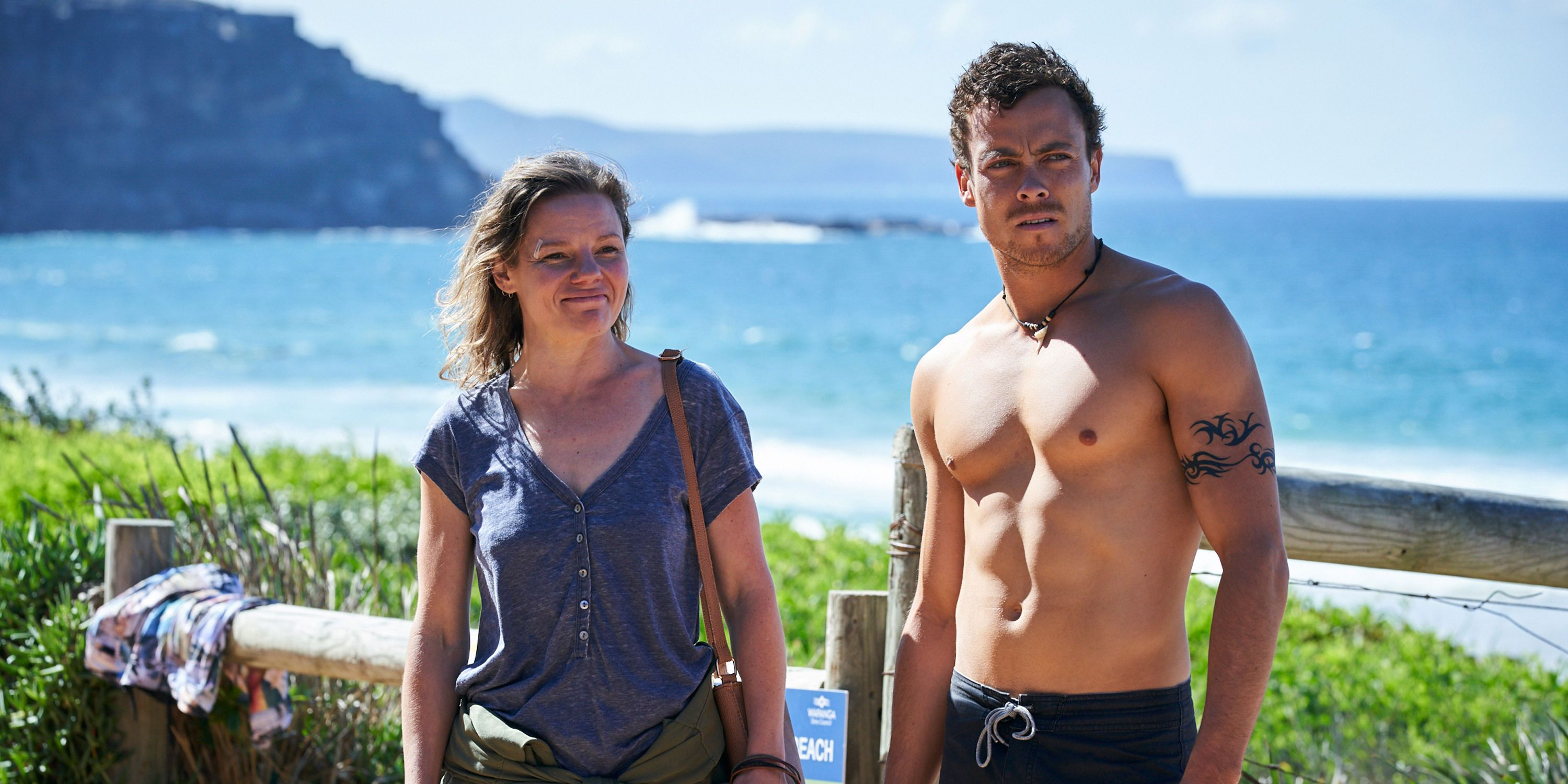 Dean Thompson with his mum Karen in Home and Away