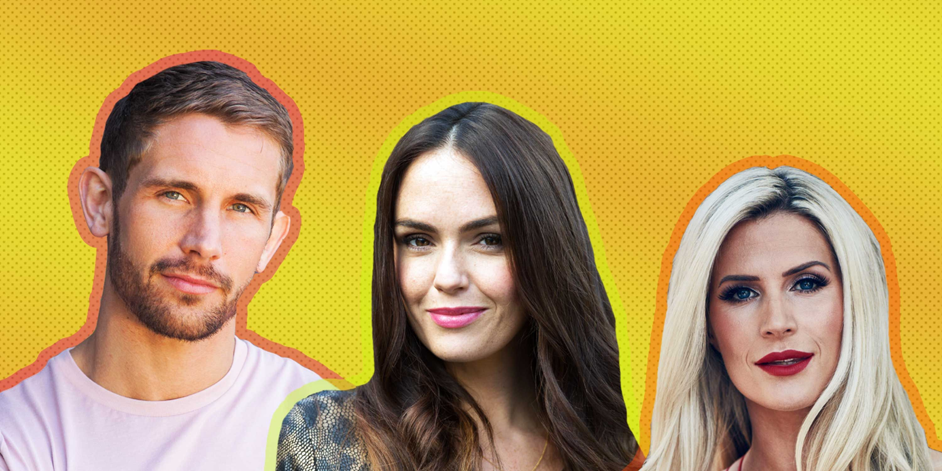 Mandy Richardson, Mercedes McQueen and Brody Hudson from Hollyoaks, October 2018