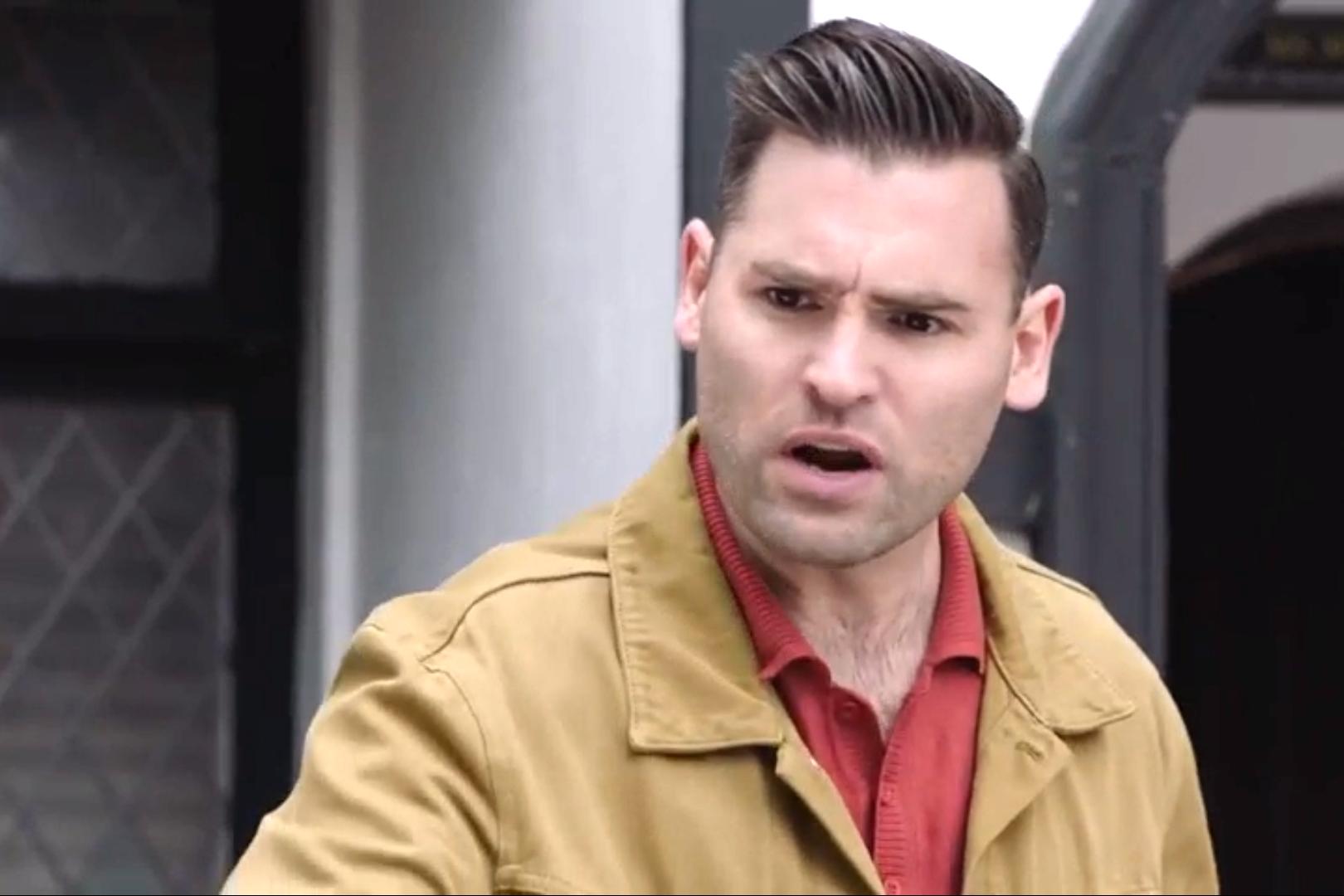 Russ Owen in Hollyoaks