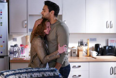Carmel and Kush Kazemi say their goodbyes in EastEnders