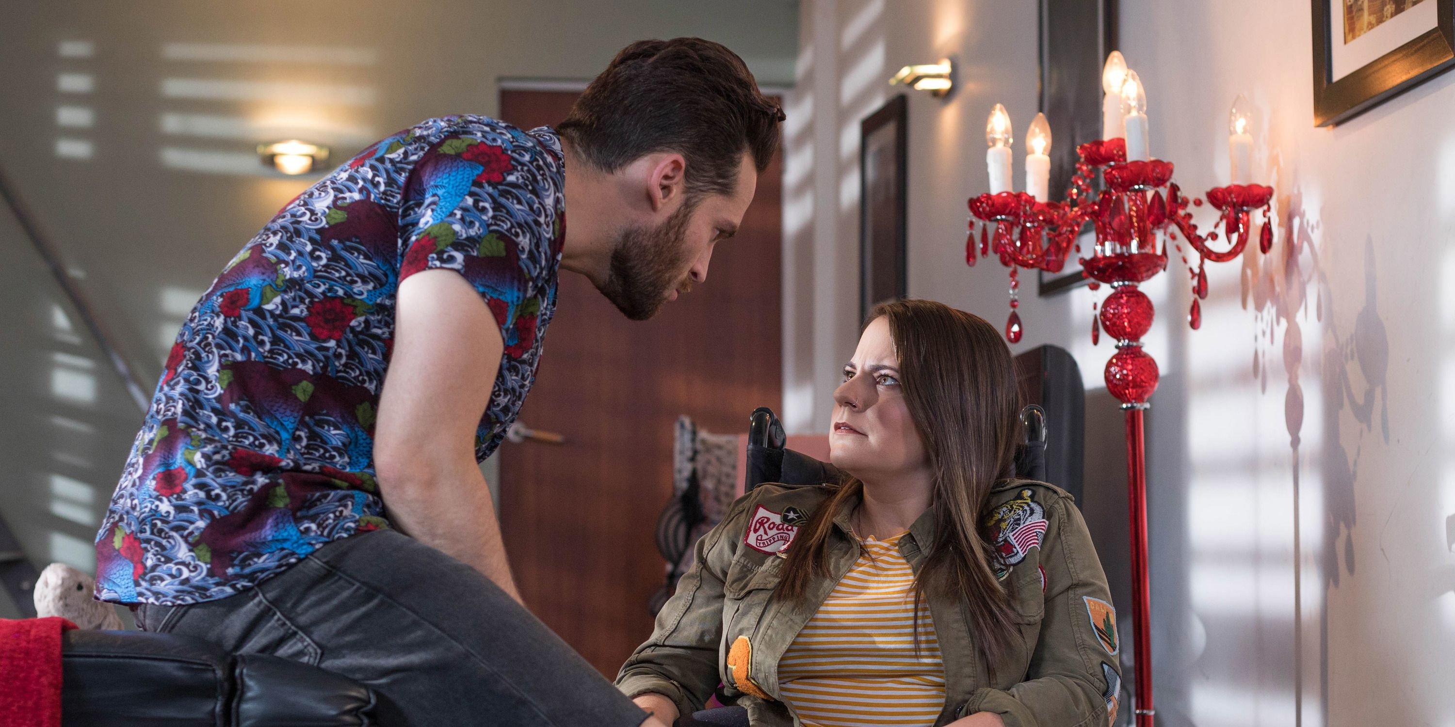 Liam Donovan confronts Courtney Campbell in Hollyoaks