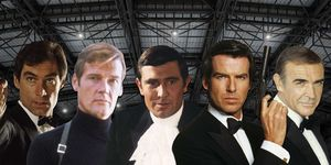 Sean Connery, Roger Moore, George Lazenby, Timothy Dalton, Pierce Brosnan, James Bond, Actor quit