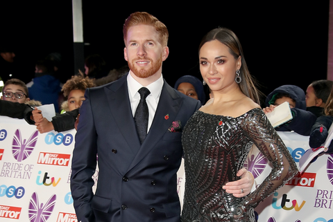 Neil Jones and Katya Jones attend the Pride of Britain Awards 2018