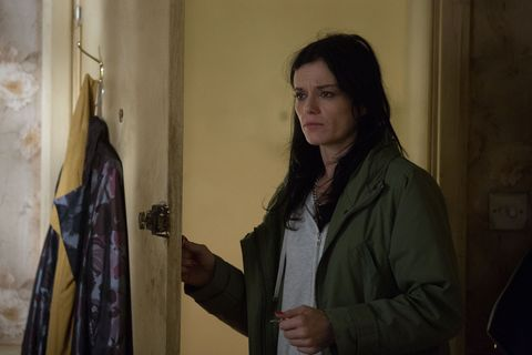 Hayley Slater catches Bev making a suspicious call in EastEnders