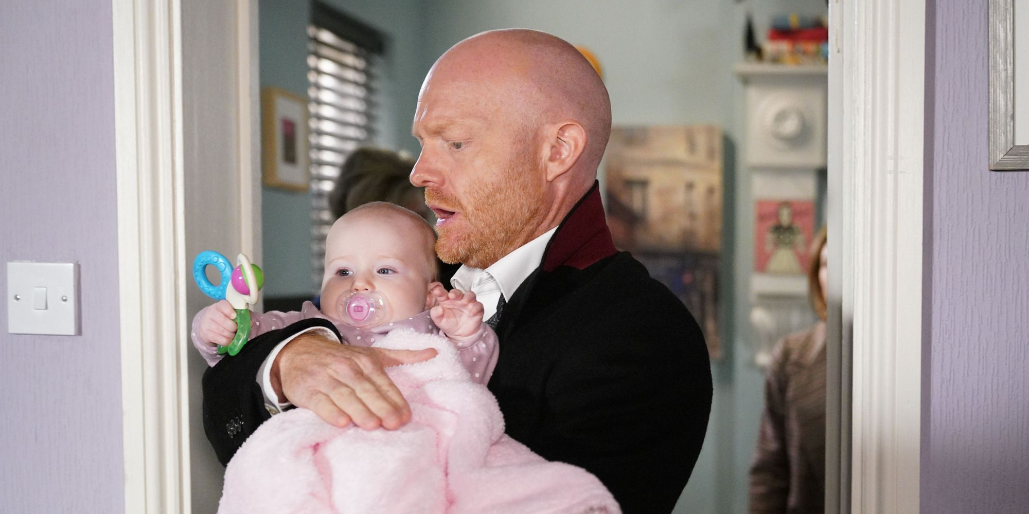 Max Branning with baby Abi in EastEnders