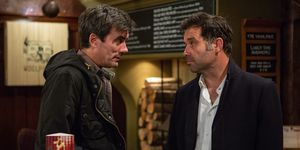 Cain Dingle confronts Graham Foster in Emmerdale