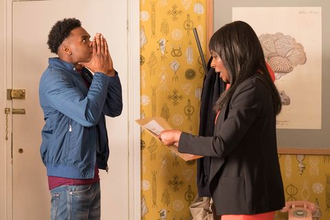 Zack and Simone Loveday under pressure in Hollyoaks