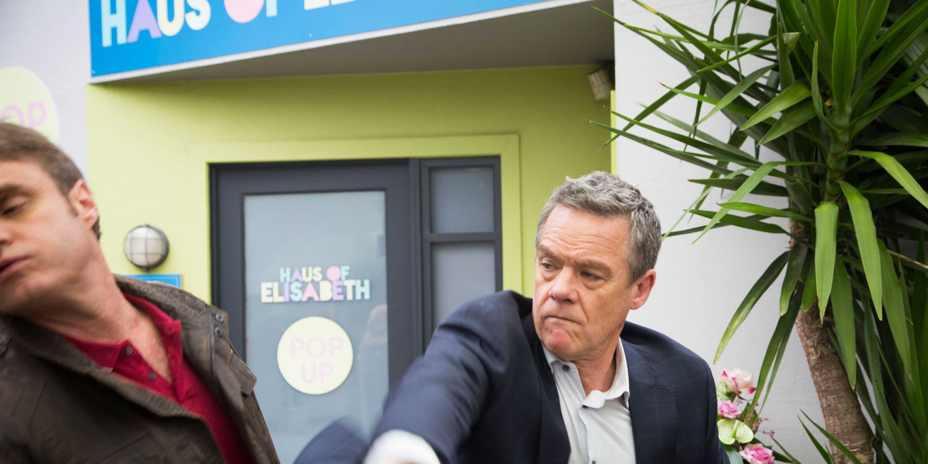 Paul Robinson punches Gary Canning in Neighbours