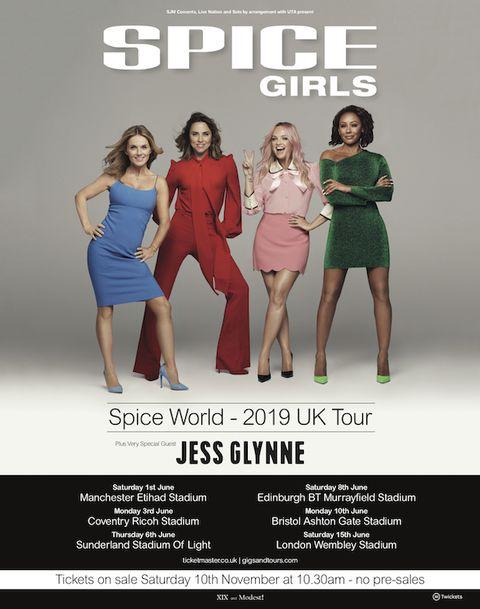 e9b5066e06dd Spice Girls 2019 reunion concerts - How to get tickets