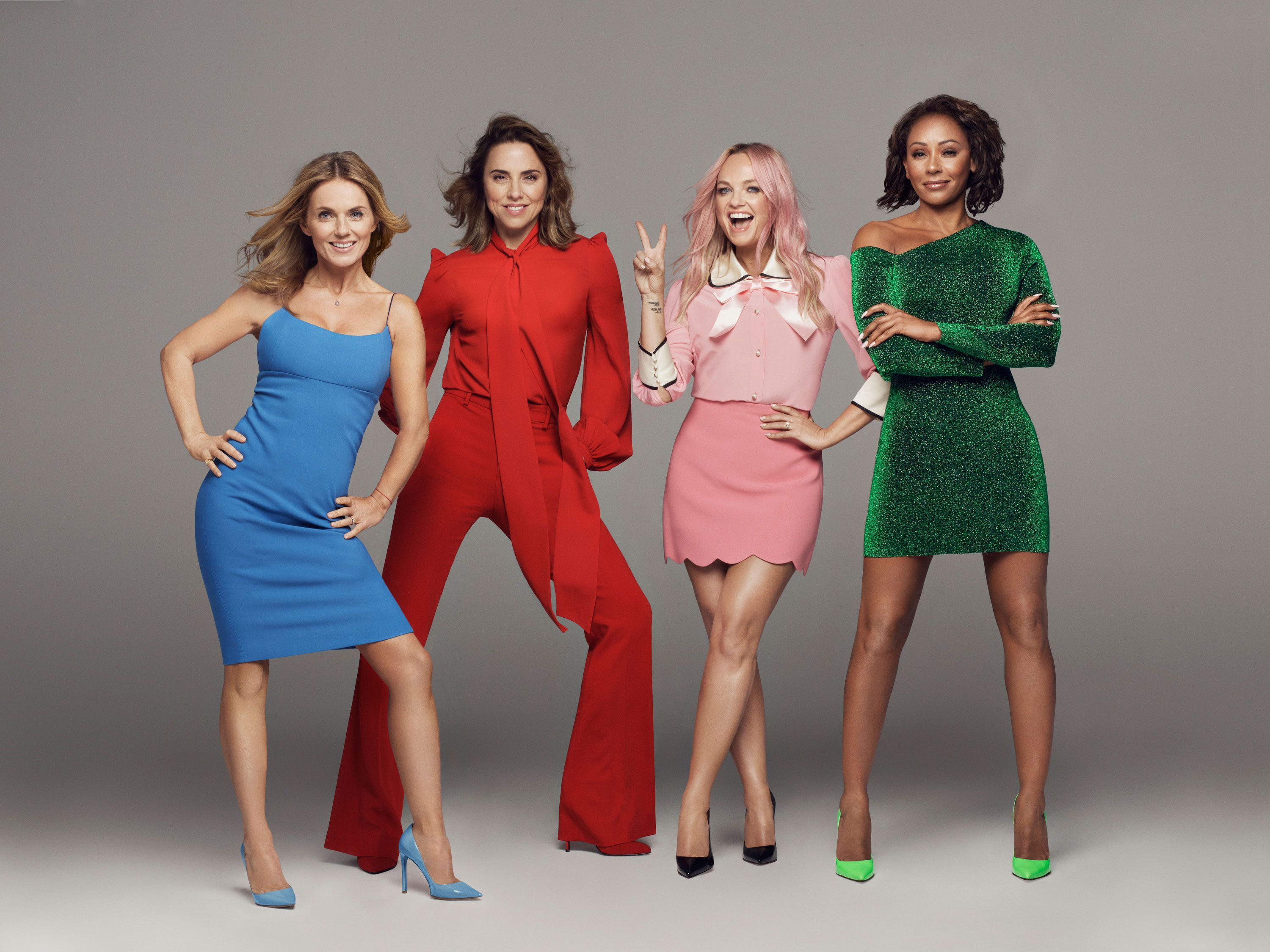 Emma Bunton explains why Mel B wasn't at Spice Girl tour rehearsals following rumours of a feud with Geri Horner