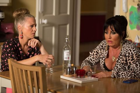 Kat Moon has a heart-to-heart with Linda Carter in EastEnders