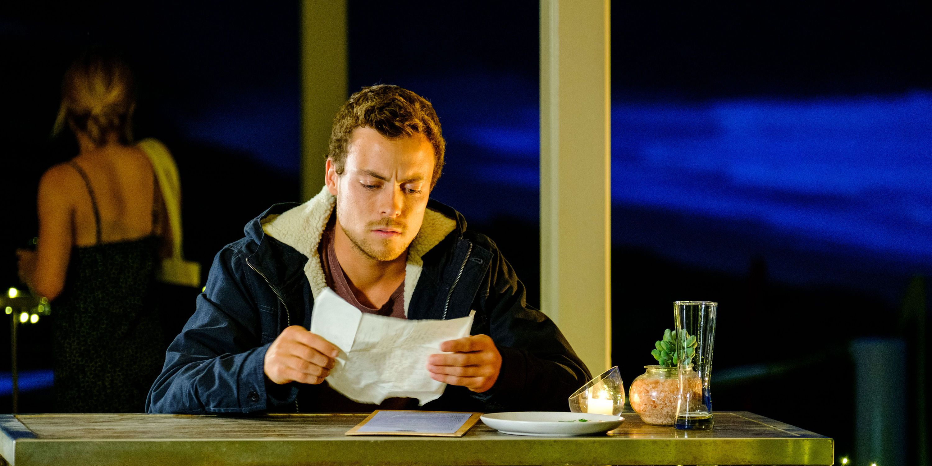 Dean Thompson burns his dad's letter in Home and Away