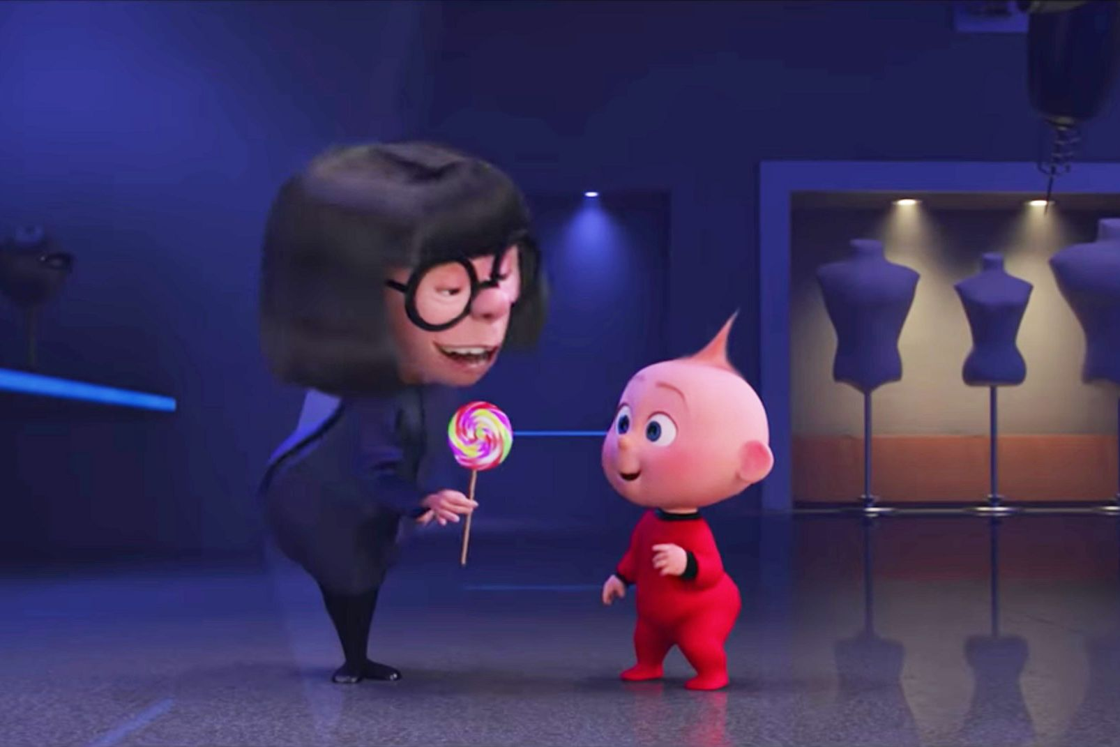 Edna Mose, Baby Jack-Jack, Incredibles 2 deleted scene