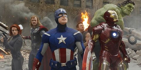 The Avengers, Black Widow, Thor, Captain America, Hawkeye, Iron Man, The Hulk