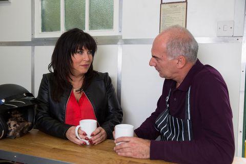 Kat Moon speaks to Tony in EastEnders