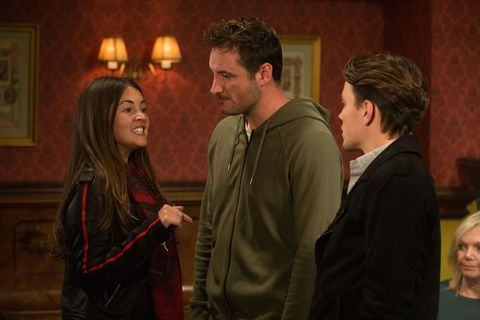 Stacey Fowler stands up to Matt Clarkson in EastEnders