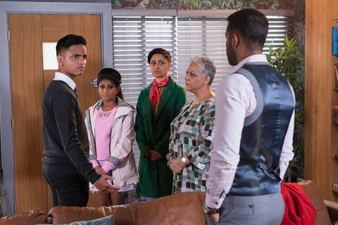 Imran and Sami Maalik talk in Hollyoaks