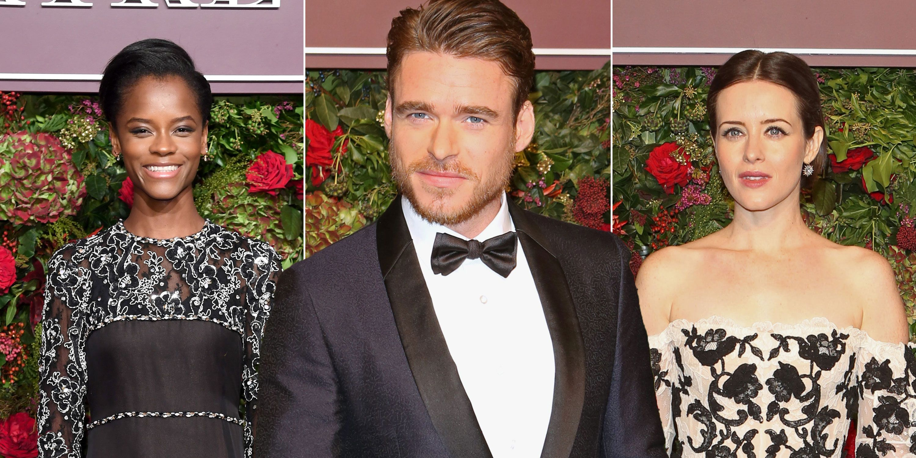 The Bodyguard's Richard Madden, Claire Foy, Letitia Wright and more stun on the red carpet