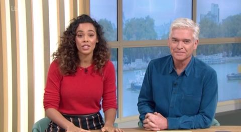 3790e49891 This Morning s Phillip Schofield reacts to Holly Willoughby s I m a  Celebrity presenting debut