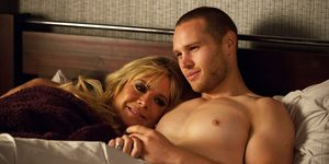 EMBARGO 13/11/2018 Sharon Mitchell and Keanu Taylor in bed together in EastEnders